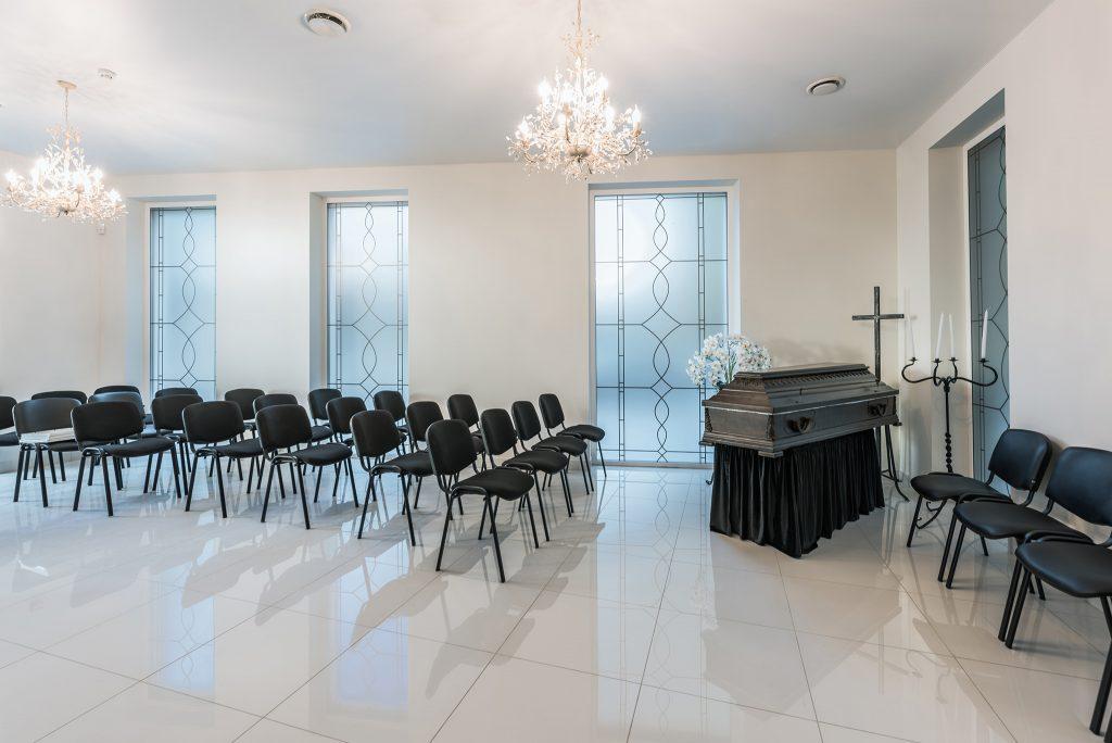 šarvojimo salė. Vilniaus laidojimo namai